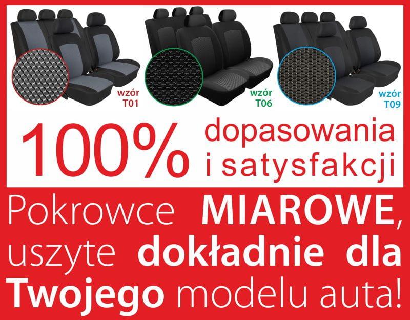 Wybitny Pokrowce MIAROWE do Seat Toledo II Moje Pokrowce [mojepokrowce.pl] BS34